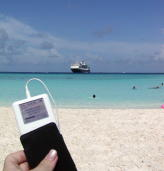 Photo by Anita Dunham-Potter -- iPod on Half Moon Cay, Bahamas